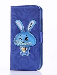 Недорогие -Чехол для iphone 6 6 плюс чехол для держателя карты с подставкой для кролика Перемещение песочной воронки флип pu кожаный чехол для iphone