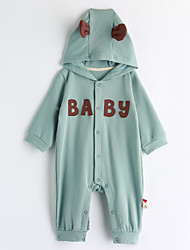 cheap -Baby Girls' Geometric Long Sleeve Romper