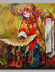 cheap -The Drunken Beauty 100% Hand Painted Contemporary Oil Paintings Modern Artwork Wall Art for Room Decoration 28x28inch