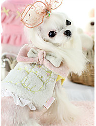 cheap -Dog Vest Dog Clothes Animal White Gray Pink Cotton Down Costume For Pets Casual/Daily