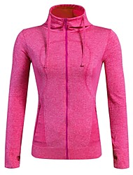 cheap -Women's Running Jacket Long Sleeves Quick Dry Breathable Stretchy Jacket Hoodie Top for Camping / Hiking Exercise & Fitness Leisure