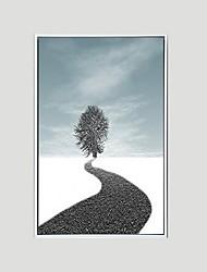 preiswerte -Landschaft Geramtes Ölgemälde Wandkunst,Polystyren Stoff Mit Feld For Haus Dekoration Rand Kunst Wohnzimmer Esszimmer 1 Stück