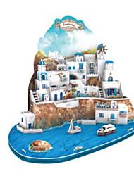 abordables -Puzzles 3D Puzzle Bâtiment Célèbre Architecture 3D Bois Naturel Unisexe Cadeau