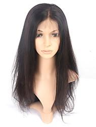 Недорогие -Горячие 360 кружевных лобных человеческих волос кружевные парики 150% плотность прямых волос 8 '' - 22 '' 360 париков шнурка с детскими