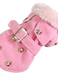 cheap -Dog Coat Dog Clothes Warm Breathable Casual/Daily Windproof American/USA Beige Gray Yellow Red Pink Costume For Pets