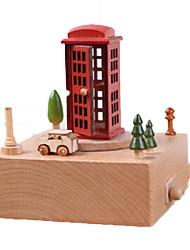 cheap -Music Box Wood Horse Carousel Rectangle Unisex Gift