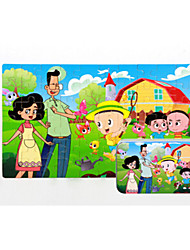 cheap -Jigsaw Puzzle Wooden Puzzles Educational Toy Cat House Cartoon Flower Fruit Other Wood Anime Cartoon 6 Years Old and Above