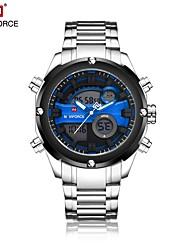 Недорогие -Муж. Спортивные часы Нарядные часы электронные часы Японский Кварцевый Цифровой Защита от влаги С двумя часовыми поясами Нержавеющая сталь