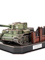 cheap -3D Puzzles Jigsaw Puzzle Toys Tank 3D DIY Male Boys Pieces