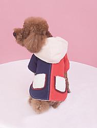 Недорогие -Собака Жилет Одежда для собак Однотонный Оранжевый / Синий Хлопок Костюм Для домашних животных Муж. / Жен. На каждый день