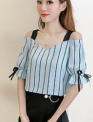 cheap -Women's Blouse - Striped Boat Neck