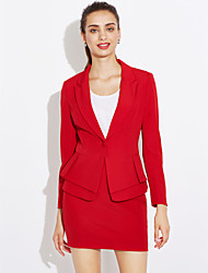 cheap -Women's Work Blazer - Solid Colored, Print