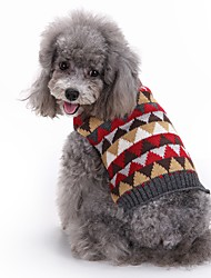 cheap -Cat Dog Coat Sweater Dog Clothes Party Casual/Daily Cosplay Keep Warm Wedding Christmas New Year's Plaid/Check Gray