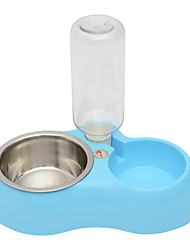 cheap -Cat Dog Bowls & Water Bottles Pet Bowls & Feeding Blue Blushing Pink