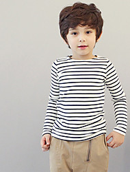 Childrens' Fashionable Cool  Winter Hot Style High Neck Wool Stripe  Long-Sleeved Tunic Backing Shirt