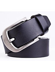 cheap -Men's Alloy Waist Belt,Brown Black Khaki Casual
