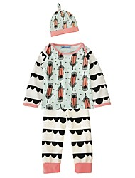 Baby Girl's Cotton Indoor Outdoor Casual/Daily Fashion Print Clothing Set,Cartoon Spring/Fall Winter
