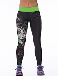 cheap -Women's Running Tights Gym Leggings Breathability Stretchy Tights Bottoms Yoga Running/Jogging Exercise & Fitness Terylene Tight M