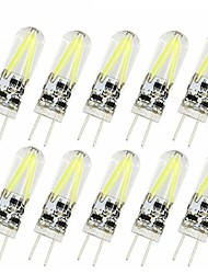 1.5W G4 LED Bi-pin Lights T 2 COB 150 lm Warm White Cold White 2700-6500 K Decorative AC/DC 12 V