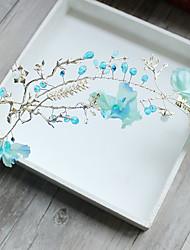 Fabric Alloy Headpiece-Wedding Special Occasion Birthday Tiaras Flowers 1 Piece