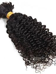 Kinky Curl Bulk Hair Braiding Brazilian Virgin Human Braiding Hair Bulk No Attachment Crochet Hair 10-26inches