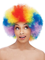 cheap -Synthetic Wig Curly African American Wig Red Capless Cosplay Wig Medium Synthetic Hair