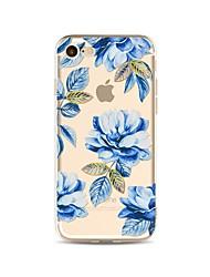 Taske til iphone 7 plus 7 cover gennemsigtigt mønster bagside cover blomst soft tpu til iphone 6s plus 6 plus 6s 6 se 5s 5c 5 4s 4