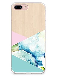 Til iPhone X iPhone 8 Etuier Transparent Mønster Bagcover Etui Geometrisk mønster Blødt TPU for Apple iPhone X iPhone 8 Plus iPhone 8