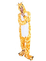 Kigurumi Pajamas Giraffe Leotard/Onesie Shoes Festival/Holiday Animal Sleepwear Halloween Fashion Animal Print Embroidered Flannel Fabric With Shoes