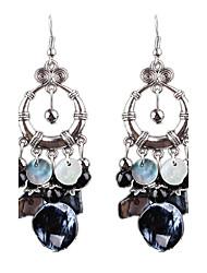 Femme Boucles d'oreille goutte Imitation Saphir Imitation de diamant Mode Personnalisé Hypoallergique Zircon AlliageForme de Cercle Forme
