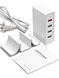 Caricabatteria USB 4 porte Stazione di caricatore dello scrittorio Con Quick Charge 3.0 Adattatore di carica