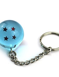 cheap -Inspired by Dragon Ball Son Goku Anime Cosplay  1 Stars Crystal Blue Ball Key Ring of  Dragon Ball Z Balls Key Buck 11CM