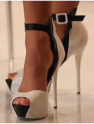 Women's Shoes PU Summer Comfort Heels For Casual White