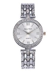 abordables -Mujer Cuarzo Simulado Diamante Reloj Reloj Esqueleto Reloj de Moda Chino Gran venta Aleación Banda Casual Plata Dorado