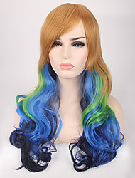 cheap -Women Synthetic Wig Capless Long Wavy Blue Cosplay Wigs Costume Wig
