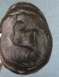 economico -capelli umani alla moda hairline 100% dei capelli umani 6 # colore per gli uomini