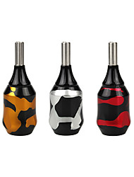 Camouflage Color Aluminum Carving Cartridge Adjustable Tattoo Grip 32mm NO Carvings Word