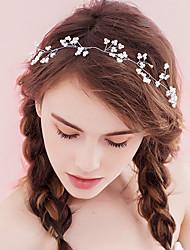 Imitation de perle Casque-Mariage Occasion spéciale Anniversaire Fête/Soirée Serre-tête Chaîne pour Cheveux 1 Pièce