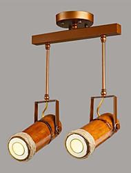 Недорогие -2-Light Прожектор Рассеянное освещение Окрашенные отделки Металл Дерево / бамбук Конструкторы 220-240Вольт Лампочки включены / GU10