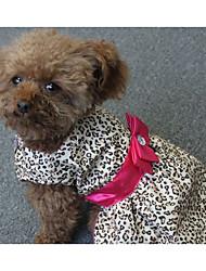 Cachorro Vestidos Roupas para Cães Casual Riscas Ocasiões Especiais Para animais de estimação