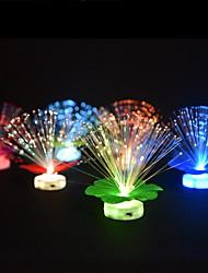 1pcs floco de neve do Natal levou lâmpada de fibra óptica mudança de cor estilo notável da luz da noite