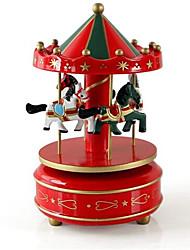abordables -Boîte à musique Jouets Articles d'ameublement Cheval Carrousel Plastique En bois 1 Pièces Unisexe Anniversaire Cadeau