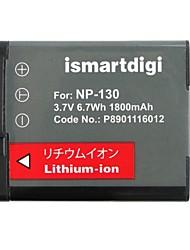 ismartdigi cnp130 3.7v 1800mah bateria da câmera para casio np130 h30 h35 zr100 zr200 zr300