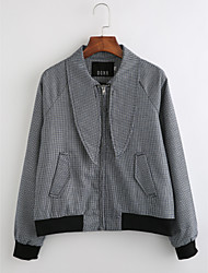 cheap -Women's Vintage Jacket-Striped