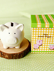 cheap -This Little Piggy Ceramic Money Saver Beter Gifts® DIY Baby Shower Favors