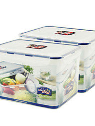 cheap -2 PCS 9L Environmental Protection Transparent Plastic Food Storage