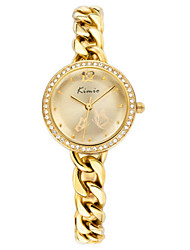 Women's Fashion Watch Quartz Water Resistant / Water Proof Alloy Band Sparkle Bangle Elegant Silver Rose Gold
