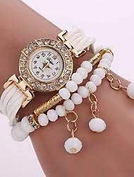 abordables -Femme Quartz Montre Diamant Simulation Bracelet de Montre Chinois Imitation de diamant Polyuréthane Bande Charme Décontracté Bohème