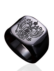 cheap -Men's Ring - Stainless Steel Personalized, Fashion 7 / 8 / 9 Gold / Black / Silver For Daily / Casual