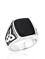 cheap -Men's Ring - Stainless Steel Personalized, Fashion 7 / 8 / 9 Black For Daily / Casual